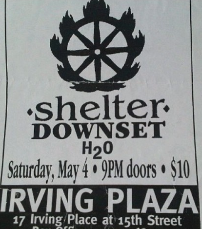 Shelter-Downset-h2o @ New York City NY 5-4-96