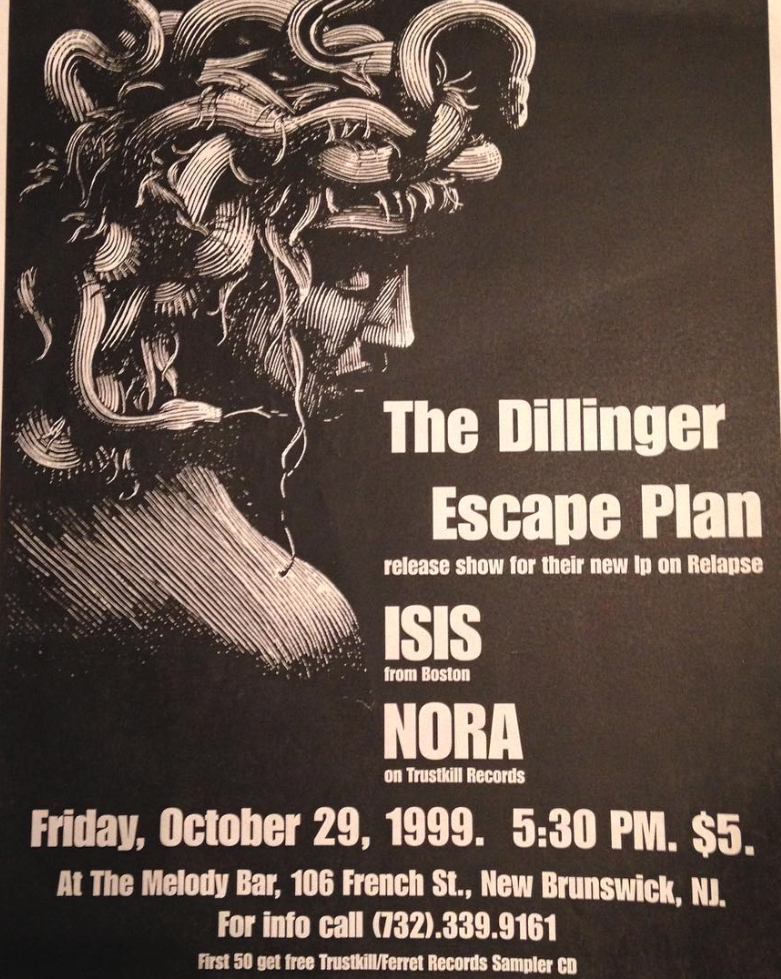 Dillinger Escape Plan-Nora-Isis @ New Brunswick NJ 10-29-99