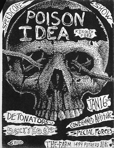 Poison Idea-Detonators-Sacrilege-Condemned Attitude-Special Forces @ San Francisco CA 1-16-87