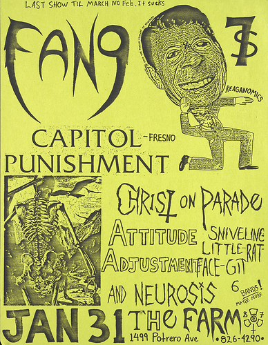 Fang-Capital Punishment-Christ On Parade-Attitude Adjustment-Neurosis @ San Francisco CA 1-31-UNKNOWN YEAR