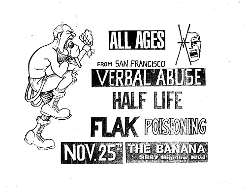 Verbal Abuse-Half Life-Flak-Poisoning @ Pittsburgh PA 11-25-UNKNOWN YEAR
