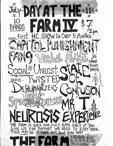 Capital Punishment-Fang-Verbal Abuse-Social Unrest-Dehumanizers-Special Forces-State Of Confusion-Mr. T Experience-Neurosis @ San Francisco CA 7-11-UNKNOWN YEAR