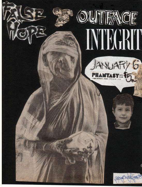 False Hope-Outface-Integrity @ Lakewood OH 1-6-90