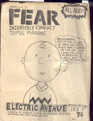 Fear-Disorderly Conduct-Sinful Pigeons @ UNKNOWN YEAR