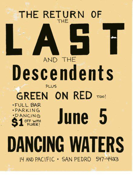 The Last-Descendents-Green On Red @ San Pedro CA 6-5-UNKNOWN YEAR