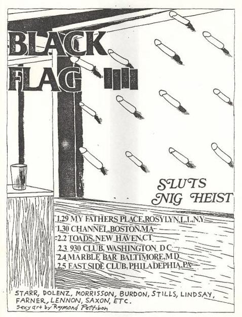 Black Flag-Sluts-Nig Heist @ Philadelphia PA 2-5-83