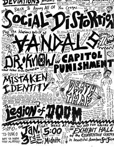 Social Distortion-Vandals-Dr. Know-Capital Punishment-Mistaken Identity-Death Trap-Legion Of Doom @ San Jose CA 1-3-UNKNOWN YEAR