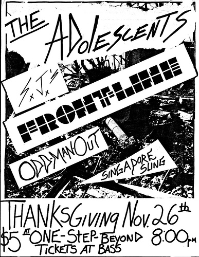 Adolescents-Front Line-Odd Man Out-Singadore Sling