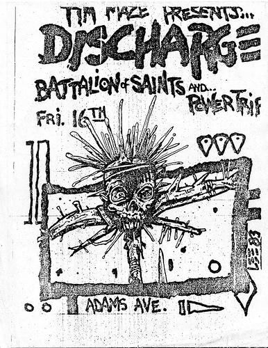 Discharge-Battalion Of Saints-Power Trip @ 1983