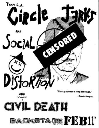 Circle Jerks-Social Distortion-Civil Death @ Tucson AZ 2-11-UNKNOWN YEAR