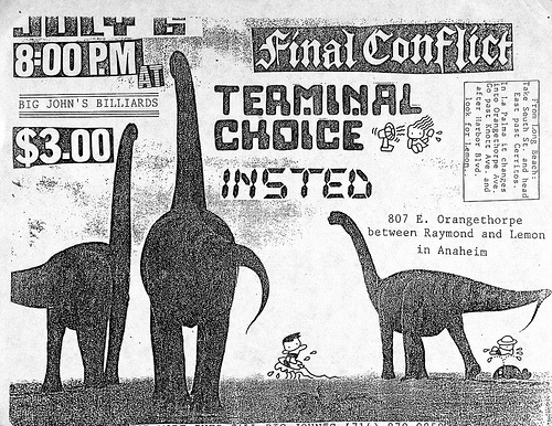 Final Conflict-Terminal Choice-Insted @ Anaheim CA 7-6-UNKNOWN YEAR