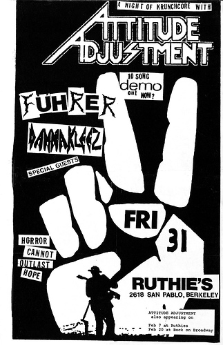 Attitude Adjustment-Fuhrer-Dannakleez @ Berkeley CA UNKNOWN DATE/YEAR