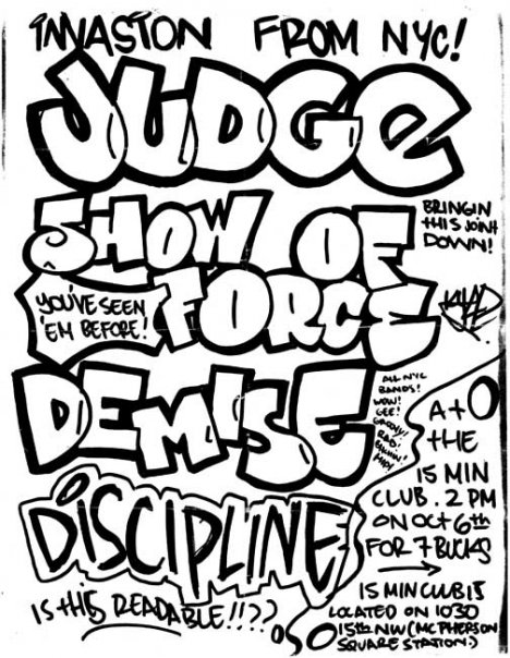 Judge-Show Of Force-Dmize-Discipline @ Washington DC 10-6-UNKNOWN YEAR