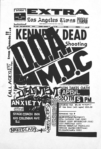 DOA-Millions Of Dead Cops-Discontent-Anxiety @ San Jose CA 4-20-UNKNOWN YEAR