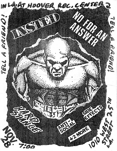 Insted-No For An Answer-Hard Stance-Anti Social-Side Effects @ Los Angeles CA 11-28-88