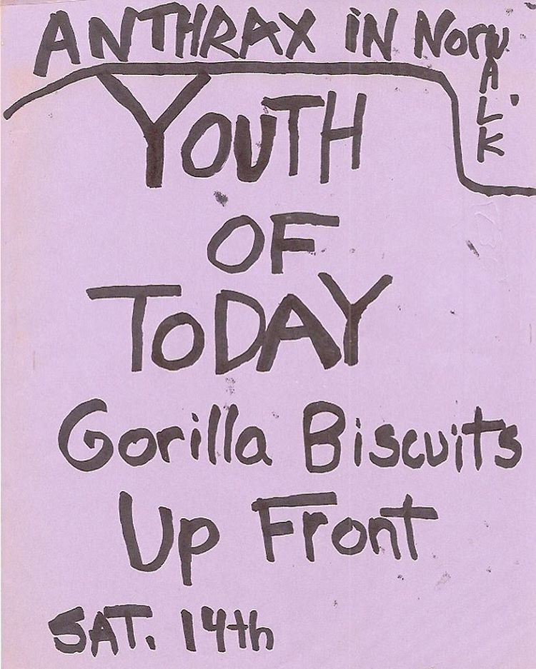 Youth Of Today-Gorilla Biscuits-Up Front @ Norwalk CT 11-14-87