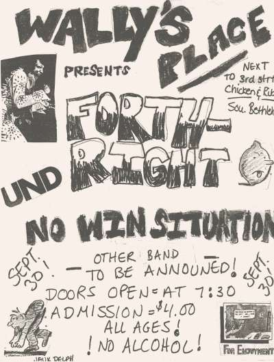 Forthright-No Win Situation @ Allentown PA 9-3-UNKNOWN YEAR