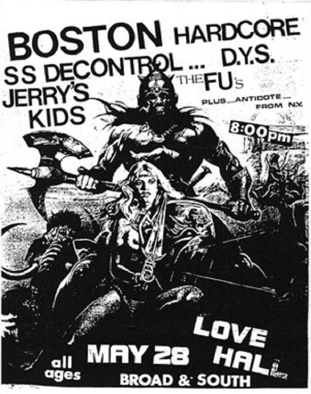 Society System DeControl-Jerry's Kids-DYS-The FU's-Antidote @ Philadelphia PA 5-28-UNKNOWN YEAR