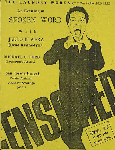 Jello Biafra-Michael C. Ford @ San Jose CA 12-11-UNKNOWN YEAR