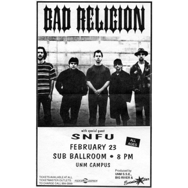 Bad Religion-SNFU @ Vancouver Canada 2-23-UNKNOWN YEAR