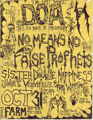 DOA-No Means No-False Prophets-Sister Double Happiness @ San Francisco CA 10-31-UNKNOWN YEAR