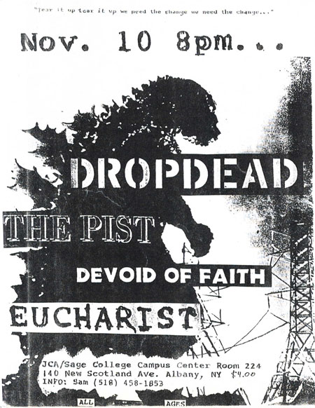 DropDead-The Pist-Devoid Of Faith-Eucharist @ Albany NY 11-10-UNKNOWN YEAR