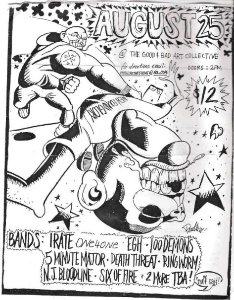 Irate-One 4 One-Everybody Gets Hurt-100 Demons-5 Minute Major-Death Threat-Ringworm-NJ Bloodline-Six Of Fire 8-25-UNKNOWN YEAR