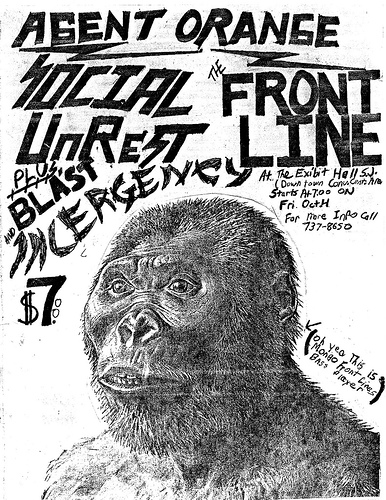 Agent Orange-Social Unrest-Front Line-Bl'ast! @ Los Angeles CA 10-11-UNKNOWN YEAR