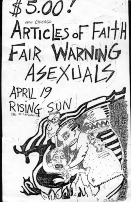 Articles Of Faith-Fair Warning-Asexuals @ Montreal Canada 4-19-85