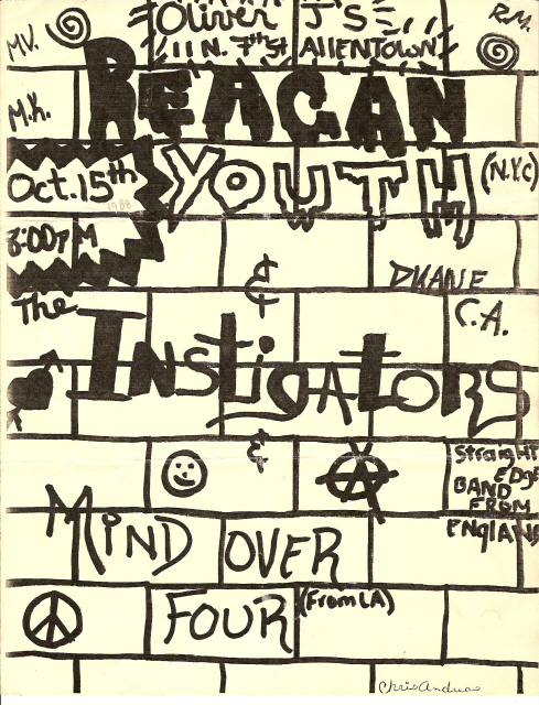 Reagan Youth-Instigators-Mind Over Four @ Allentown PA 10-15-UNKNOWN YEAR