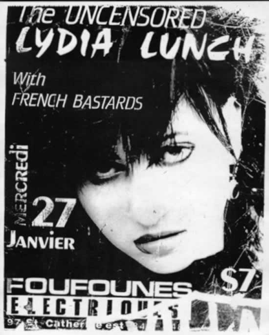Lydia Lunch-French Bastards @ Montreal Canada 1988