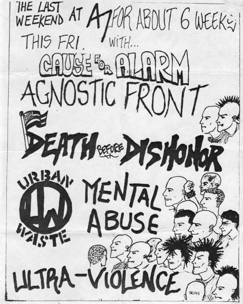 Cause For Alarm-Agnostic Front-Death Before Dishonor-Urban Waste-Mental Abuse-Ultra Violence @ New York City NY