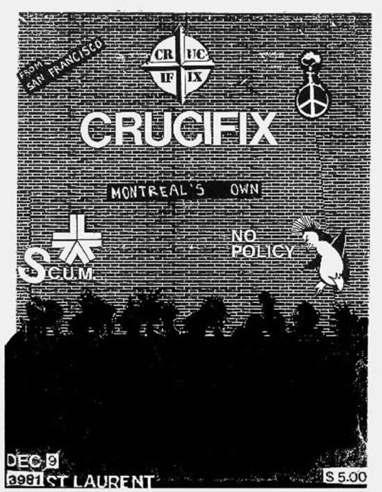 Crucifix-Scum-No Policy @ Montreal Canada 12-9-UNKNOWN YEAR