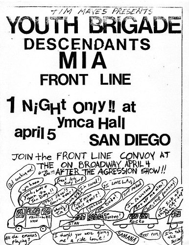 Youth Brigade-Descendents-MIA-Front Line @ San Diego CA 4-5-UNKNOWN YEAR