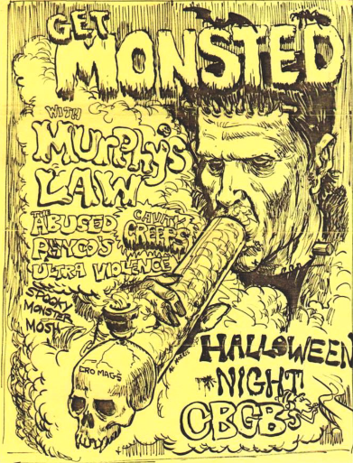 Murphy's Law-The Abused-Psychos-Ultra Violence-Cavity Creeps @ New York City NY 10-31-UNKNOWN YEAR