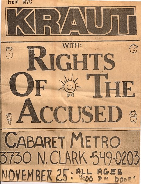 Kraut-Rights Of The Accused @ Chicago IL 11-25-UNKNOWN YEAR