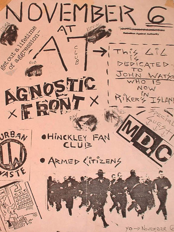 Agnostic Front-Hinkley Fan Club-Armed Citizens-Millions Of Dead Cops-Urban Waste @ New York City NY 11-6-UNKNOWN YEAR