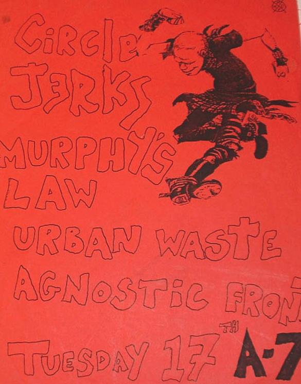 Circle Jerks-Murphy's Law-Urban Waste-Agnostic Front @ New York City NY