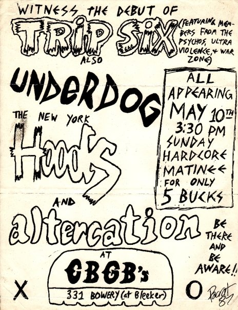 Trip Six-Underdog-New York Hoods-Altercation @ New York City NY 5-10-87