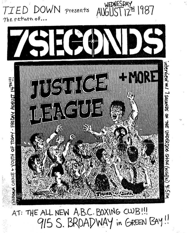 7 Seconds-Justice League @ Green Bay WI 8-12-87 (Don't Miss Youth Of Today + Uniform Choice 8-14-87)