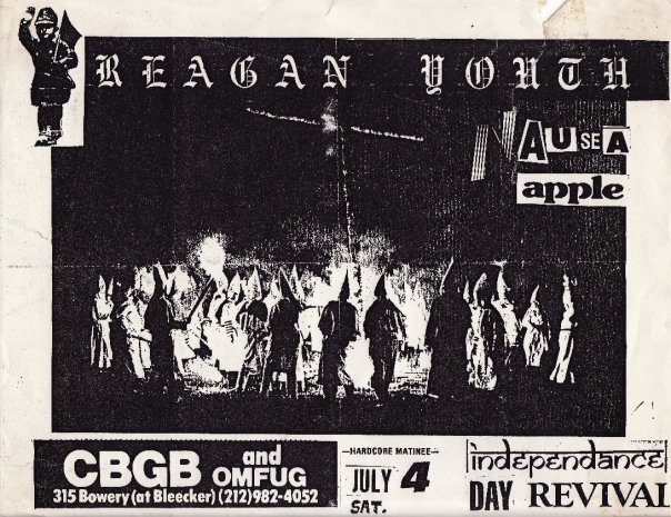 Reagan Youth-Nausea-Apple @ New York City NY 7-4-87