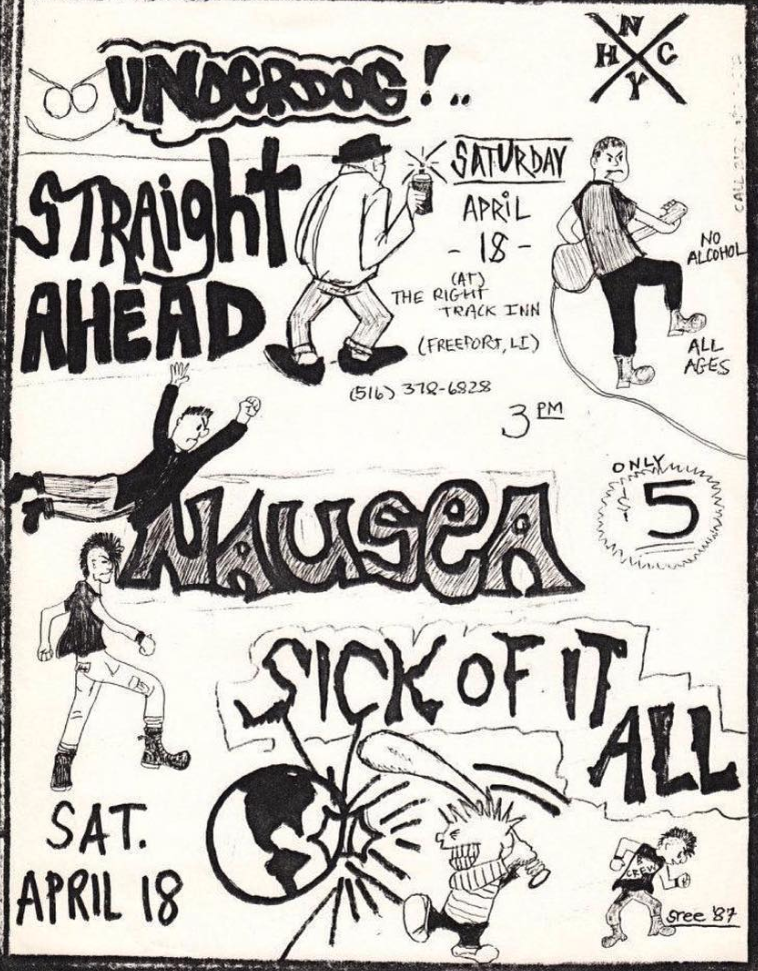 Underdog-Straight Ahead-Nausea-Sick Of It All @ Long Island NY 4-18-87