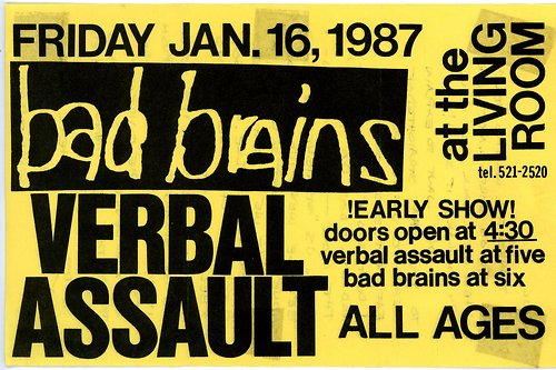 Bad Brains-Verbal Assault @ Providence RI 1-16-87