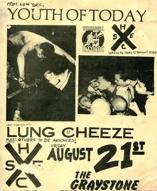 Youth Of Today-Lung Cheeze @ Detroit MI 8-21-87