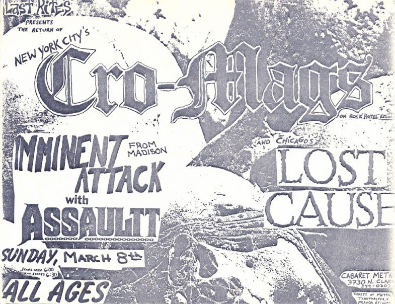 Cro Mags-Imminent Attack-Lost Cause-Assault @ Chicago IL 3-8-87