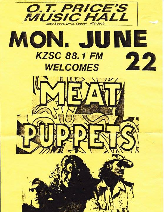Meat Puppets @ Santa Cruz CA 6-22-87
