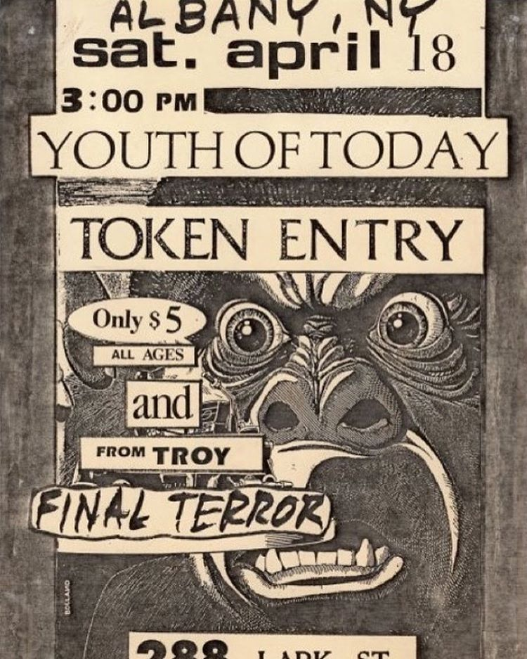 Youth Of Today-Token Entry-Final Terror @ Albany NY 4-18-87
