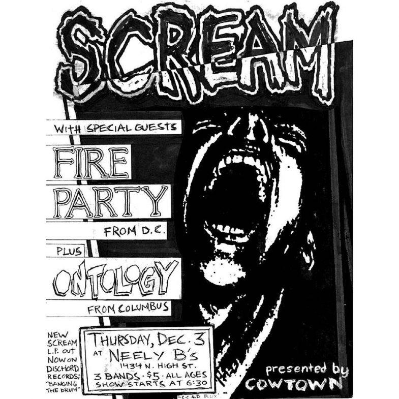 Scream-Fire Party-Ontology @ Memphis TN 12-3-87
