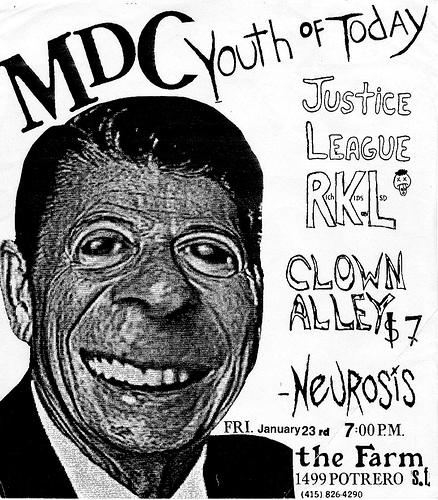 MDC-Youth Of Today-Justice League-RKL-Clown Alley-Neurosis @ San Francisco CA 1-23-87