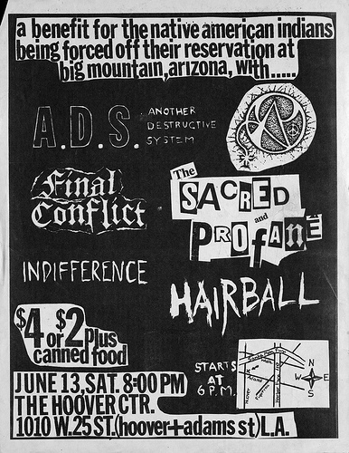 Another Destructive System-Final Conflict-Indifference-The Sacred & The Profane-Hairball @ Los Angeles CA 6-13-87